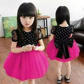 Dress polka anak