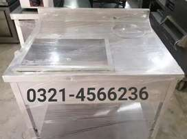 Breading table pure stainless steel