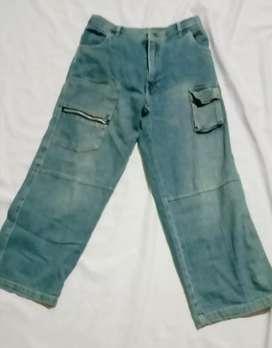 Celana jeans anak HARMONIE pinggang karet Usia 10-12 tahun