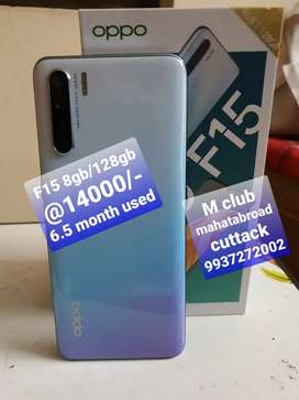 Oppo F15 8gb/128gb 6.5 month used