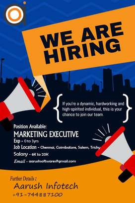 Hiring Marketing Executive