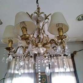 Lampu gantung antik kristal LK04