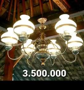 Produksi Lampu Gantung Antik Klasik Hias Joglo Gebyok Cafe