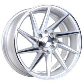 velg mobil type HSR Ciao JD8142 Ring15x7 H8x100-1143 ET30 Silver Machi