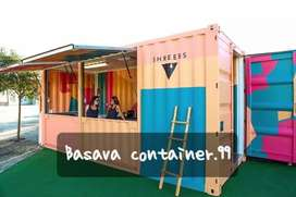 Container booth cafe, container usaha, container coffee shop,container