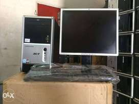 Acer Tower AMd Dual core Desktop Cpu ram 2gb Hdd 160gb One Month warnt