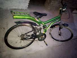 Hercules bicycle with soccer and power break