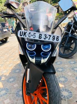 You can exchange with car  Ktm rc 390 with abs model