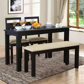 AURA 4 SEATER DINING TABLE IN WENGE COLOUR