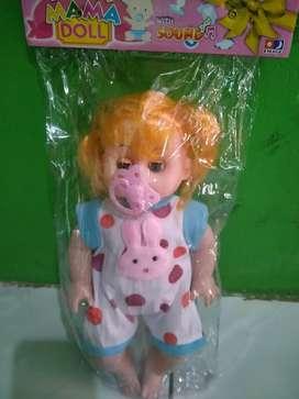 Boneka nangis empeng