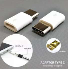 Converter/Connector Usb type C Putih ( from Micro Usb to Usb type C )
