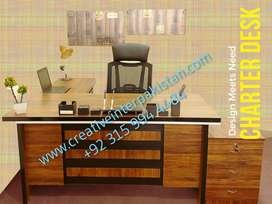 UniqueLook fFull Office Table Set imagemakeer Chair Furniture Sofa