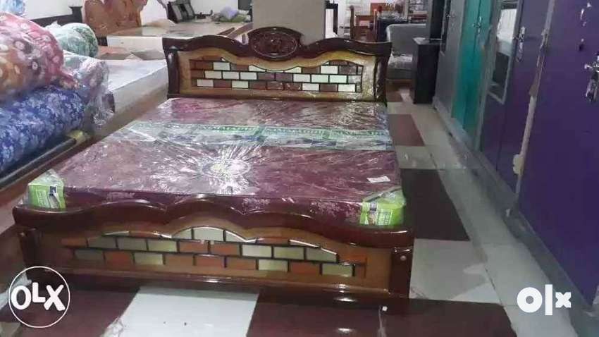 Brand New Teak Wood Fancy Cot For Sale Queen Size