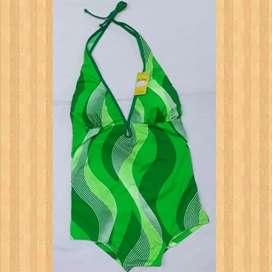 Baju renang monokini bi10 green spril