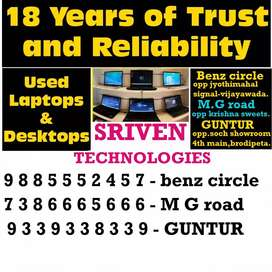 Imported r used laptops sales at bulk -Sriven technologies benz circle