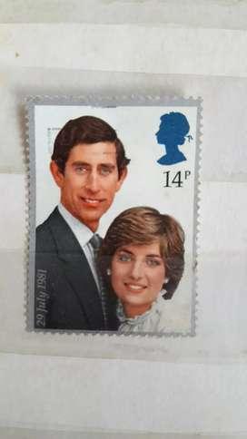 Dijual perangko pangeran charles dan lady diana