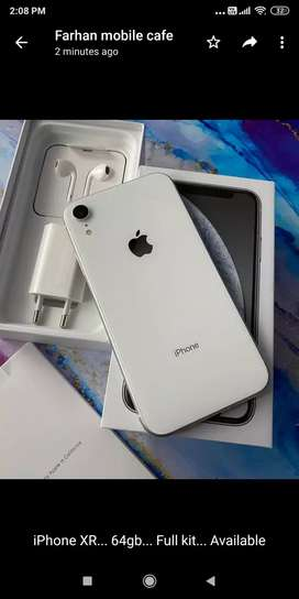 Apple iphone XR (64gb) 100% new condition with bill box n all