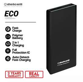 DELCELL POWERBANK ECO polymer battery real capacity 10000 mAh