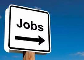 Male and female airport job vacancy