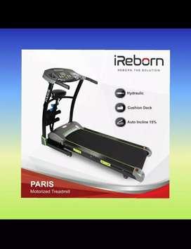 Treadmill elektrik auto incline paris alat fitnes