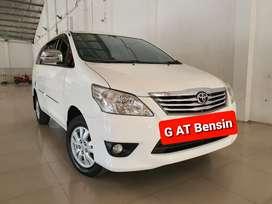 Toyota Innova 2.0 G AT 2013 Putih BENSN, Pajak 05-2021, GENAP