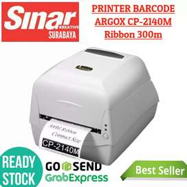 PRINTER LABEL BARCODE STICKER ARGOX CP-2140M WHITE - RIBBON