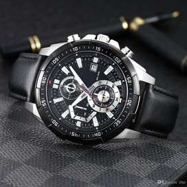 EDIFICE LEATHER BRANDED WATCH PACKED CASH ON DELIVERY PRICE NEGOTIABLE