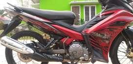 Jual motor mx 135cc warna merah.
