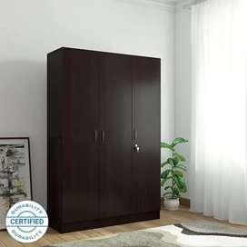 Engineered Wood 3 Door Almirah-Wardrobe