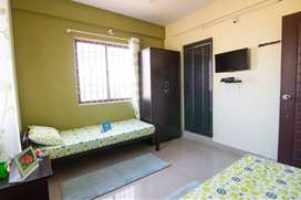 One double bedroom fully furnished with TV available in Pachpedi Naka
