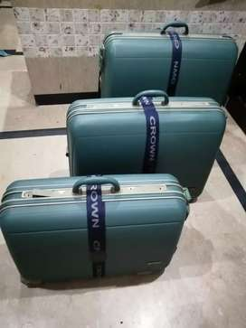 Crown travel suitcases