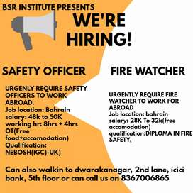 Fire watcher and safety officer