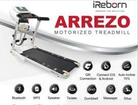 murah treadmill elektrik merk ireborn Arezzo sudah auto incline COD