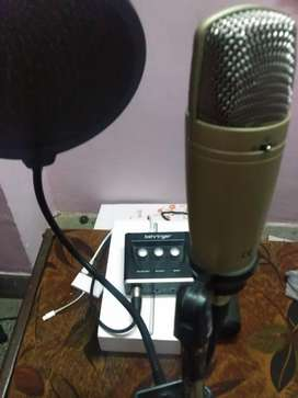 Condenser mic  and audio interface