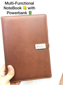 Multifunctional Notebook with Calculator/ 16 GB Pen Drive & Powerbank