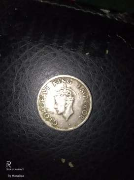GEORGE VI KING EMPEROR (Quarter rupee)1947