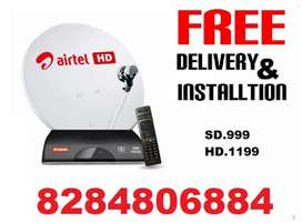 Airtel And Tata Sky  New DTH connection Available 1100/-