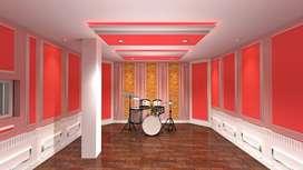 pemasangan peredam suara ruang studio latihan musik band yg SNI