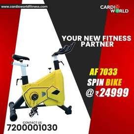 Branded Exercise  Spin Bike with 1 year warranty & Free service