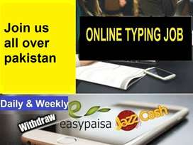 online TYPING Jobs Available FOR (Males and Females )