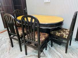1 Dining table 4 chairs