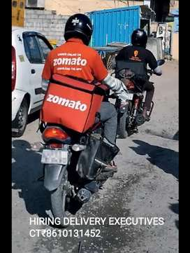 ZOMAATO- URGENT REQUIREMENTS FOR DELIVERY EXECUTIVES