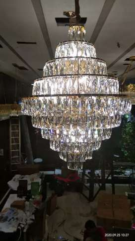 Lampu hias kristal model sarang tawon