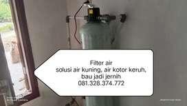 Filter air Sumur, 1 solusi air kuning keruh kotor jadi jernih