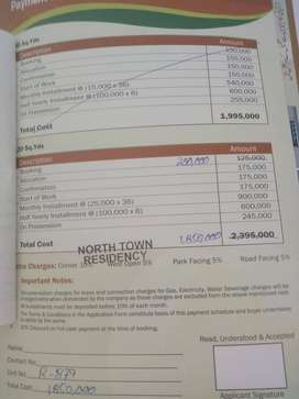 120gz West Open Plot File For Sale - North Town Residency - Phase 2