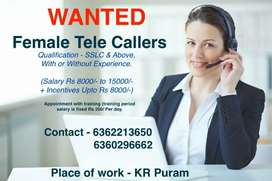Wanted for Female Telecaller