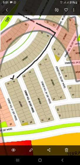 8 Marla residential Corner plot with 2Marla extra land 4 urgent sale