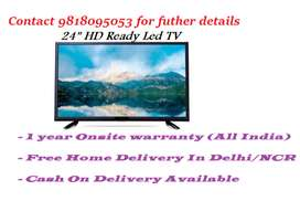 "24"" HD Ready Led With 1 year Complete Onsite All India Warranty"