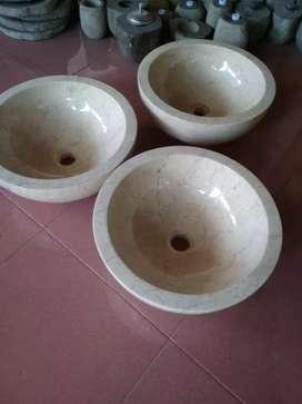 Wastafel batu marmer onik alami