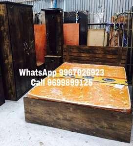 Simple model wooden Bedroom set.